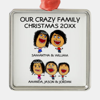 Cartoon of Funny Family of Five Ornament