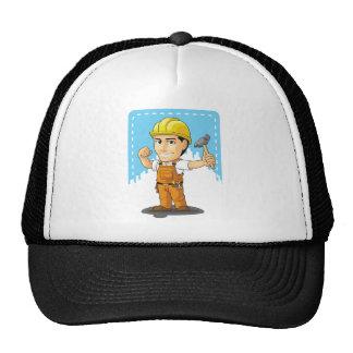 Cartoon of Industrial Construction Worker Hats