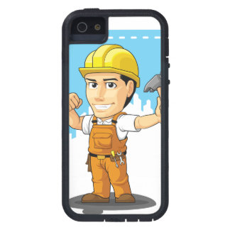 Cartoon of Industrial Construction Worker.pdf iPhone SE/5/5s Case