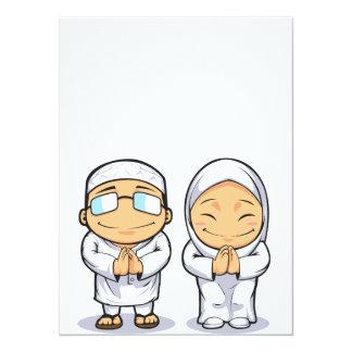 Cartoon of Muslim Man & Woman Card