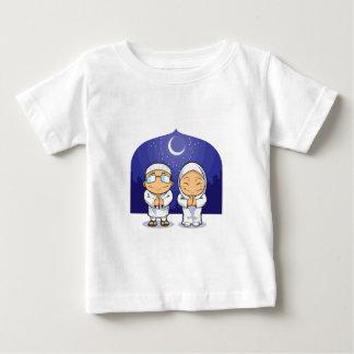 Cartoon of Muslim Man Woman Greeting Ramadan Baby T-Shirt