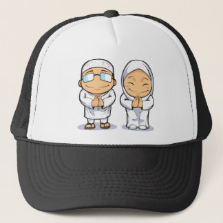 Cartoon of Muslim Man & Woman Trucker Hat