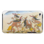 Cartoon of Native American men performing rain iPod Touch Cases