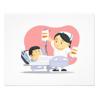 Cartoon of Nurse Helping Child Patient Personalized Flyer