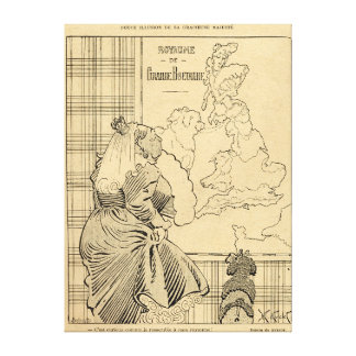 Cartoon of Queen Victoria from Le Rire Canvas Print