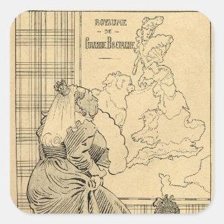 Cartoon of Queen Victoria from Le Rire Square Sticker