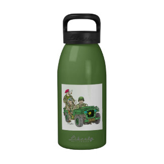 Cartoon of to WW2 G503 jeep Water Bottles