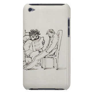 Cartoon of William Morris (1834-96) reading poetry Barely There iPod Cover