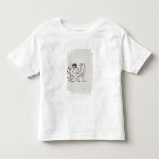 Cartoon of William Morris (1834-96) reading poetry Toddler T-shirt