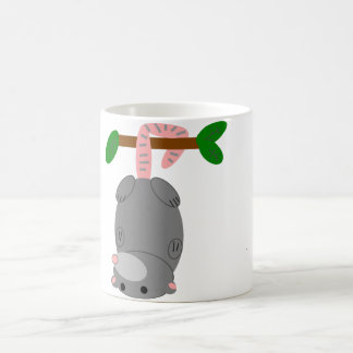 Cartoon Opossum/Possum Hanging Upside Down by Tail Coffee Mug
