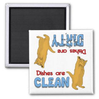 Cartoon Orange Cat Lovers Dishwasher Magnet