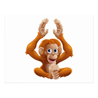Cartoon OrangUtan Animal Character Postcard