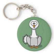 Cartoon Ostrich Keychain