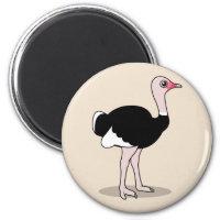 Ostrich Round Magnet
