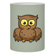 cartoon owl bird flameless candle