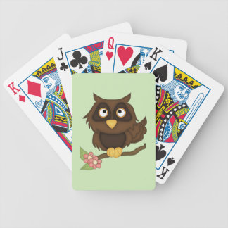 Cartoon Owl (brown) Bicycle Playing Cards