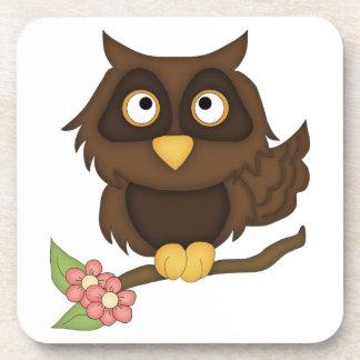 Cartoon Owl (brown) Coaster