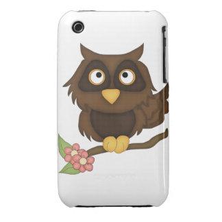 Cartoon Owl (brown) iPhone 3 Cases