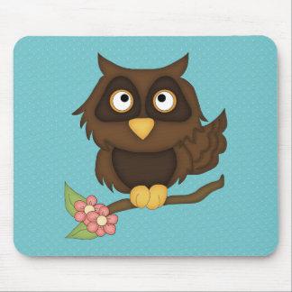 Cartoon Owl (brown) Mouse Pad