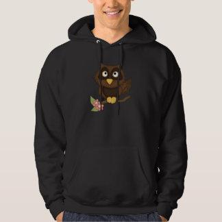 Cartoon Owl (brown) Pullover