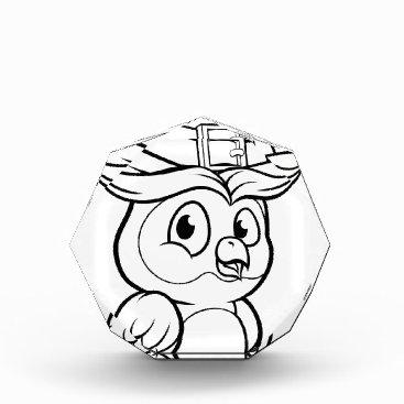 Halloween Themed Cartoon Owl Character Acrylic Award