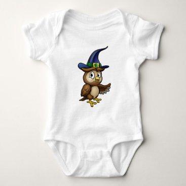 Halloween Themed Cartoon Owl Character Baby Bodysuit