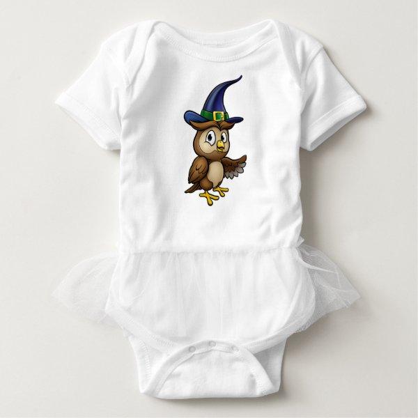 Cartoon Owl Character Baby Bodysuit