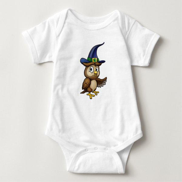 Cartoon Owl Character Baby Bodysuit
