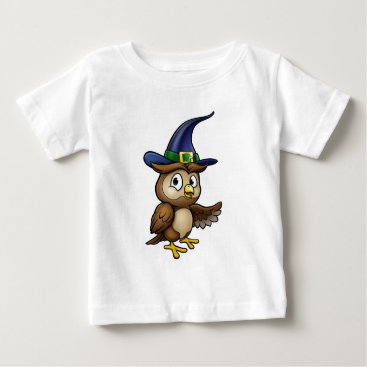 Halloween Themed Cartoon Owl Character Baby T-Shirt
