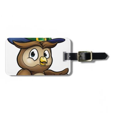 Halloween Themed Cartoon Owl Character Bag Tag