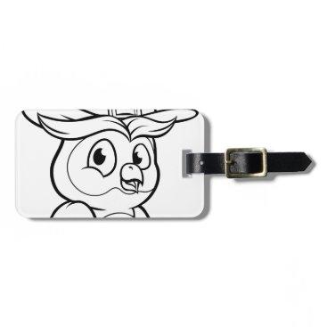 Halloween Themed Cartoon Owl Character Bag Tag