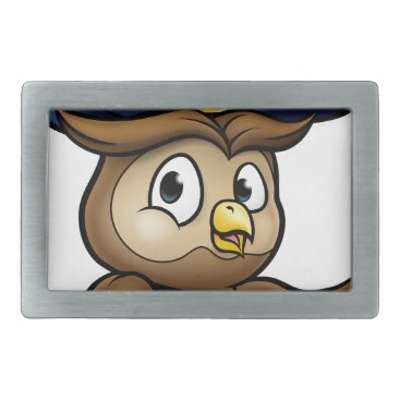Halloween Themed Cartoon Owl Character Belt Buckle