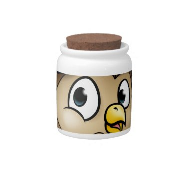 Halloween Themed Cartoon Owl Character Candy Dish