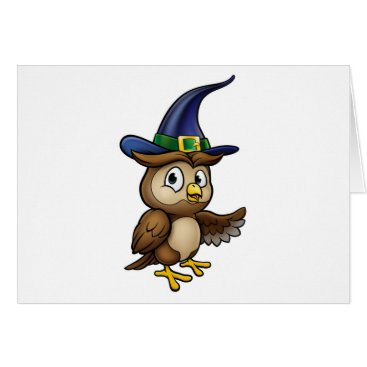 Halloween Themed Cartoon Owl Character Card