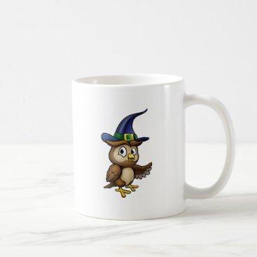 Halloween Themed Cartoon Owl Character Coffee Mug