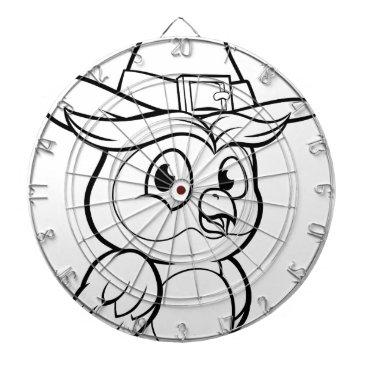 Halloween Themed Cartoon Owl Character Dartboard