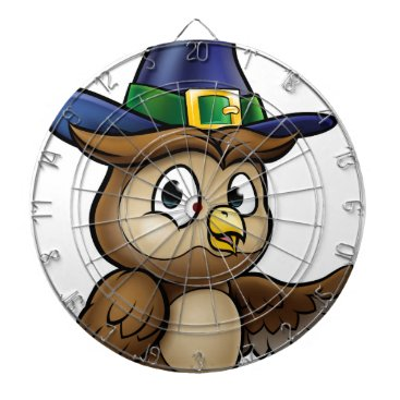 Halloween Themed Cartoon Owl Character Dartboard With Darts