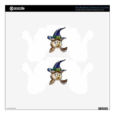 Halloween Themed Cartoon Owl Character Decal For PS3 Controller
