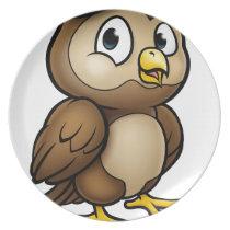 Cartoon Owl Character Dinner Plate