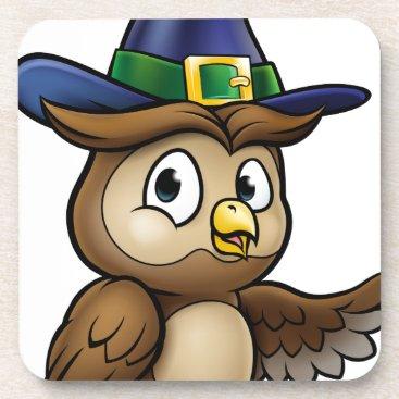 Halloween Themed Cartoon Owl Character Drink Coaster