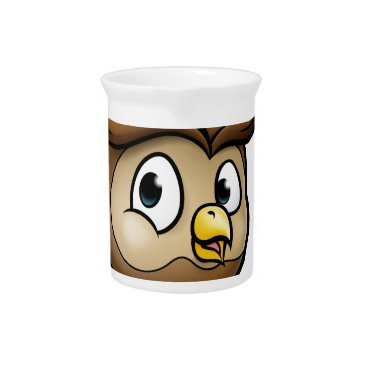 Halloween Themed Cartoon Owl Character Drink Pitcher