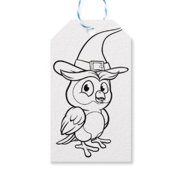 Halloween Themed Cartoon Owl Character Gift Tags