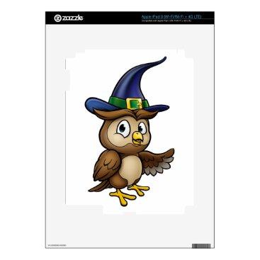 Halloween Themed Cartoon Owl Character iPad 3 Decals