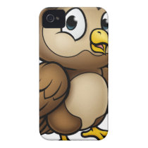 Cartoon Owl Character iPhone 4 Case-Mate Case