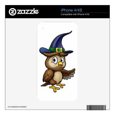 Halloween Themed Cartoon Owl Character iPhone 4 Decal