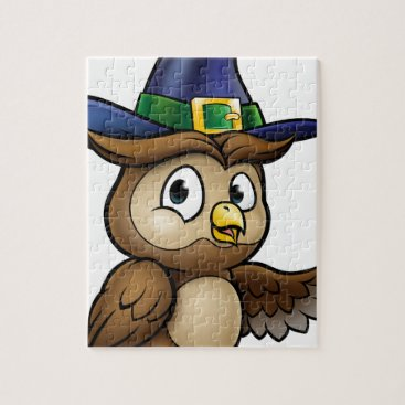Halloween Themed Cartoon Owl Character Jigsaw Puzzle