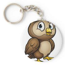 Cartoon Owl Character Keychain