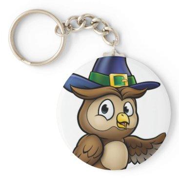 Halloween Themed Cartoon Owl Character Keychain