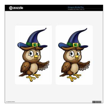Halloween Themed Cartoon Owl Character Kindle Fire Skin