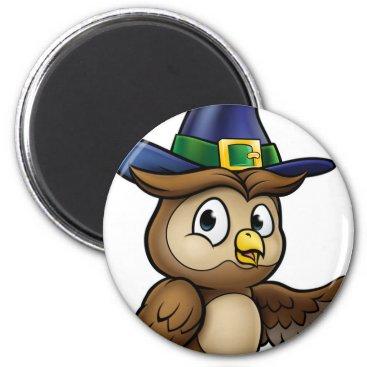 Halloween Themed Cartoon Owl Character Magnet